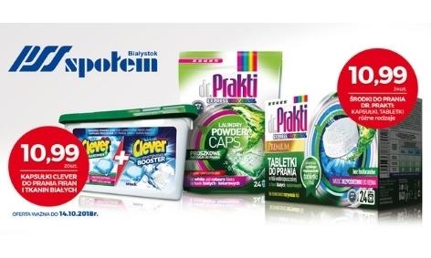 Wielka akcja dr Prakti & Clever w sklepach PSS Społem w Białymstoku
