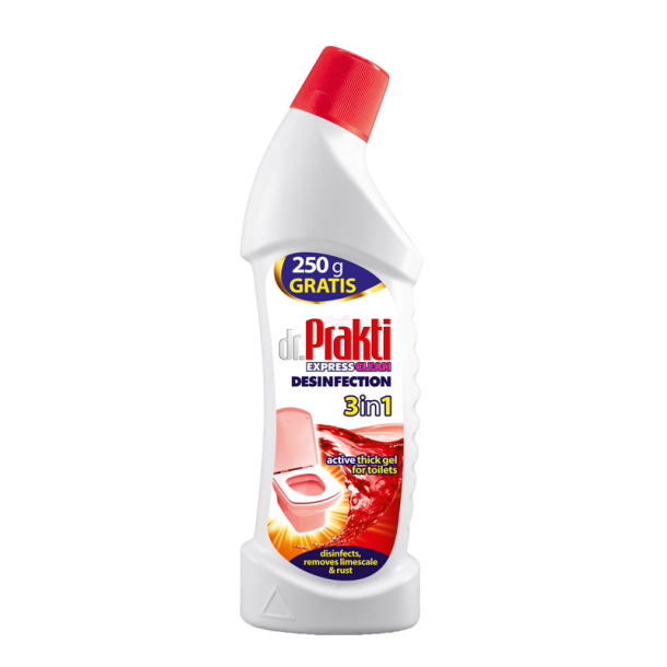 Dr.Prakti HOT RED 3w1 – disinfecting gel for toilets